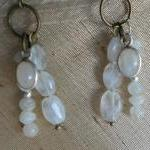 Rainbow Moonstone Drops Ear..