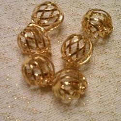 Gold Color Cages Charms